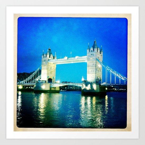 I love Tower Bridge Art Print
