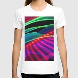 Colorful bands of light T-shirt