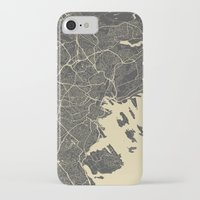 oslo iPhone & iPod Cases featuring Oslo Map by Map Map Maps