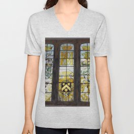 Holy Trinity Old Church, Stained Glass Window, Wentworth, Rotherham Unisex V-Neck