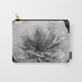Alchymist Rose Black & White Nature / Floral Photograph Carry-All Pouch