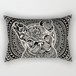 Polynesian  Frenchie Rectangular Pillow