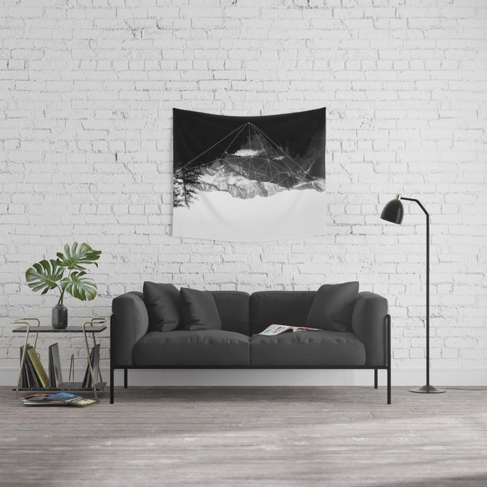 Crystal Mountain Wall Tapestry
