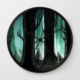 Psypuff forest 02 Wall Clock