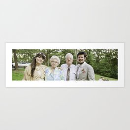 With the Grandparents Art Print