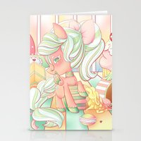 mlp Stationery Cards featuring Strawberry Dollop MLP by Whimsette