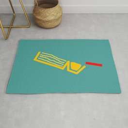 red stick/ crackers with cheese Rug