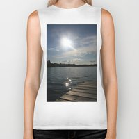 lake Biker Tanks featuring Lake by Lalateesa