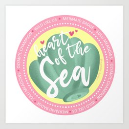 Mermaid Badge Art Print