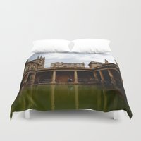 england Duvet Covers featuring Bath, England by Samantha Brockbank
