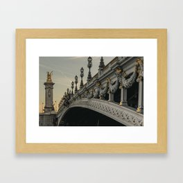 Paris - Pont Alexander III Framed Art Print