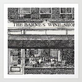 BARNES WINE Art Print