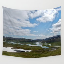 Norway - Clouds and Lakes Wall Tapestry