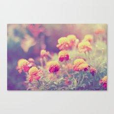 Retro Vintage style - flowers Canvas Print