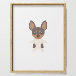 Sorry I Can't I Have Plans With My Toy Fox Terrier Serving Tray