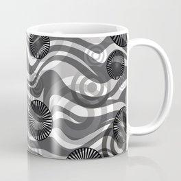 Zebra Stripes spiral design grey Coffee Mug