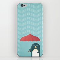 penguin iPhone & iPod Skins featuring Penguin by Travel Poster Co.