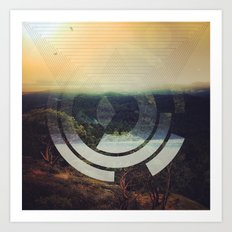 Flipped Horizon Art Print