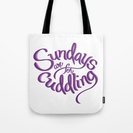 Sundays Tote Bag