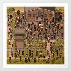 Super Walking Dead: Prison Art Print