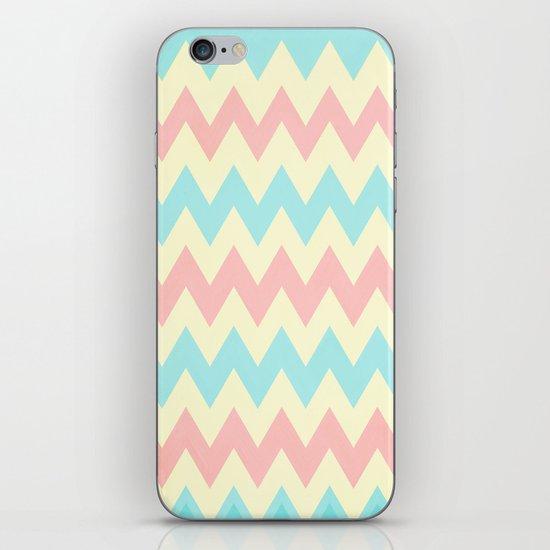 Summer Pink & Blue Chevron iPhone & iPod Skin