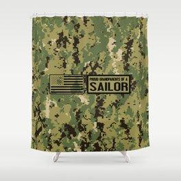 Proud Grandparents of a Sailor Shower Curtain