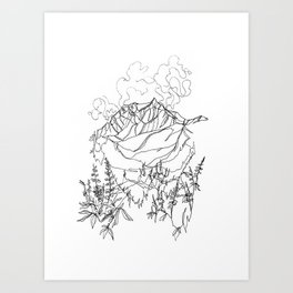 Lupine Time :: Single Line Art Print