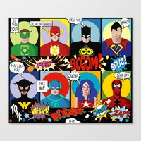 super heroes Canvas Prints featuring Super Heroes by Chicca Besso
