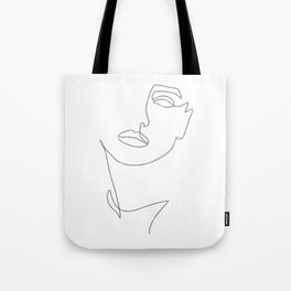 Triple Face Line Tote Bag