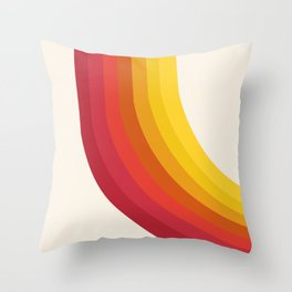 4-Sho - retro 70s style throwback vibes 1970's trendy decor art minimalist rainbow stripes Throw Pillow
