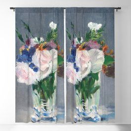 Edouard Manet - Flowers in a Crystal Vase Blackout Curtain