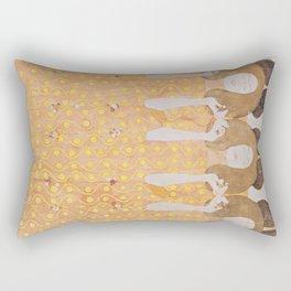 Gustav Klimt - Choir of Angels (Chor Der Paradiesengel) Rectangular Pillow