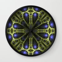 egyptian Wall Clocks featuring Egyptian Gold by Brian Raggatt
