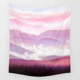 Candy Floss Mist Wall Tapestry