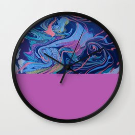 Abstract Painting Swirl and Texture Wall Clock