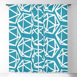 D20 Pattern - Blue White Blackout Curtain
