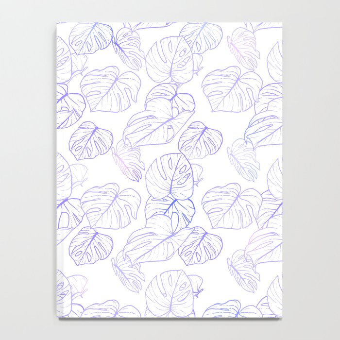 Monstera (White Glow) - Lavender Notebook