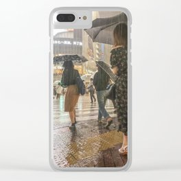 Rain In Shibuya Clear iPhone Case
