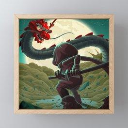 Dragon Fight Framed Mini Art Print
