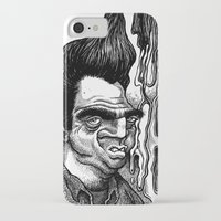 grease iPhone & iPod Cases featuring Dave's Grease Ghost by PRESTOONS / Art by Dennis Preston