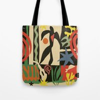 matisse Tote Bags featuring Inspired to Matisse (vintage) by Chicca Besso