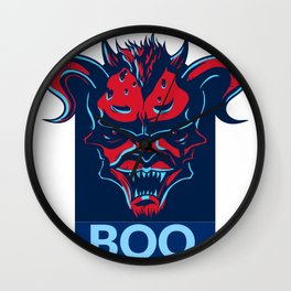 Boo. Demon Wall Clock