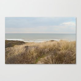 View of the North Sea from the dunes Canvas Print