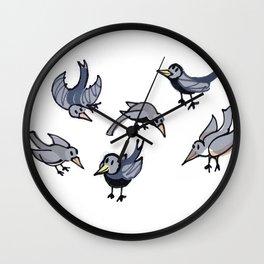 Lots of Mrs Magpies Wall Clock