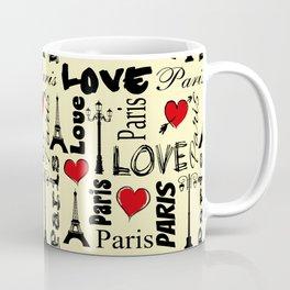 Paris text design illustration Coffee Mug