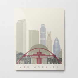 Los Angeles skyline poster Metal Print