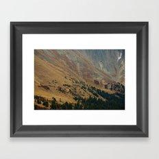 warm valley Framed Art Print