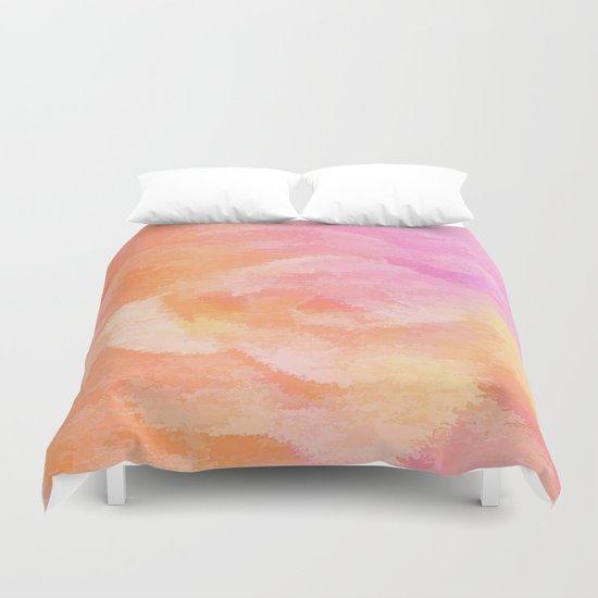 Soft Pastel Floral Blend Duvet Cover