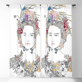 Floral Girl Blackout Curtain