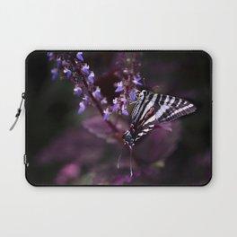 Zebra Striped Swallowtail Butterfly Laptop Sleeve